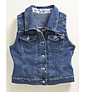 Sleeveless Vintage Style Denim Gilet