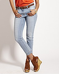 Back Zip Crop Skinny Jeans