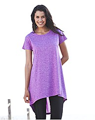 Longline Dipped Hem Jersey Top