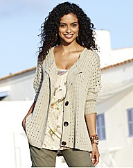 Oversized Open Knit Cardigan