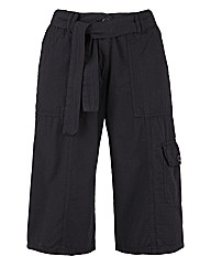 Self Belted Combats Shorts