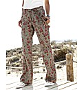 Self Belted Print Combats Length 32in