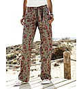 Self Belted Print Combats Length 30in