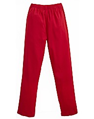 Pull On Red Crop Jeggings