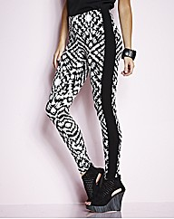 Panelled Illusion Print Leggings