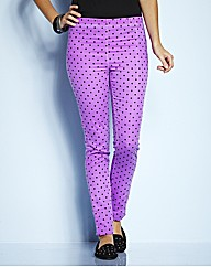 Tall Magenta Spot Printed Jeggings
