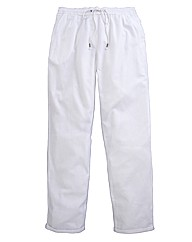 Linen Mix Trousers Length 32in