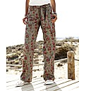 Self Belted Print Combats Length 28in
