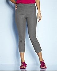 Pull On Grey Crop Jeggings