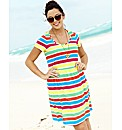 Striped Jersey Tunic Dress