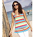 Striped Frill Jersey Top