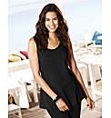Plain Peplum Vest Top Length 27in