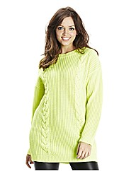 Longline Neon Cable Jumper