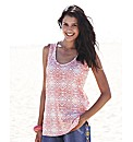 Pack of 2 Ikat Print Jersey Vests