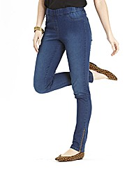 Zip Hem Jeggings