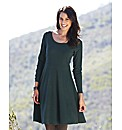 Textured Jersey Skater Tunic Dress