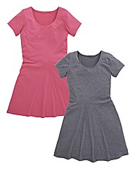 Pack of 2 Jersey Skater Tunics