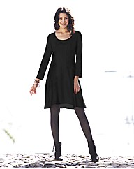 Black Flippy Tunic Dress