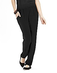 Tapered Plain Jersey Trousers