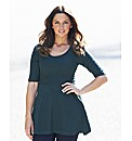 Textured Jersey Peplum Top Regular