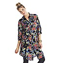 Floral Print Shirt Dress Regular Length