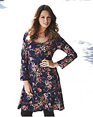 Floral Print Flippy Tunic Dress