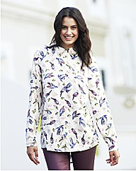 Multicoloured Bird Print Shirt