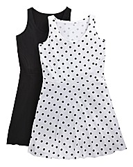 Pack of 2 Jersey Skater Tunics - Spot