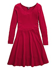 Petite Textured Jersey Skater Dress