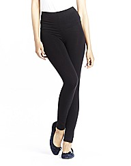 High Waisted Plain Leggings Crop Length