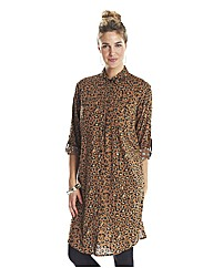 Petite Animal Print Shirt Dress