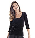 Joanna Hope Velour Top