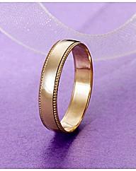 9 Carat Gold Detail Edge Wedding Band