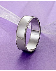 9 Carat Gold Detail Edge Wedding Band