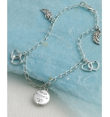 Sterling Silver Heart & Wing Bracelet