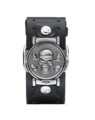 Gent's Skull Cuff Watch