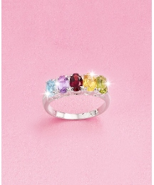 Sterling Silver Multi-Gemstone Ring