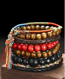 Gent's Set of 7 Trendy Bracelets