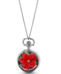 Flower Of The Month Fob Watch
