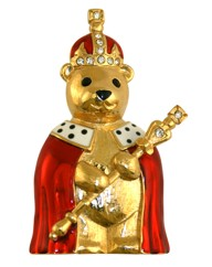 King Teddy Brooch