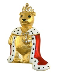 Queen Teddy Brooch