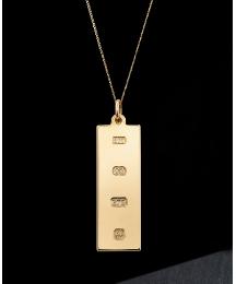 9 Carat Gold Personalised Ingot Pendant
