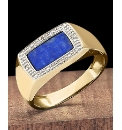 9 Carat Gold Oblong Stone Ring