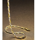 9ct Gold 3-Colour Herringbone Necklace