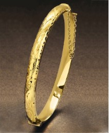 Rolled Gold Swirl Design Bangle