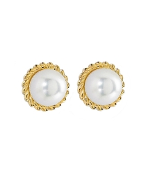 9 Carat Gold Pearl Earrings