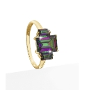9ct Gold Green Mystic Topaz Ring