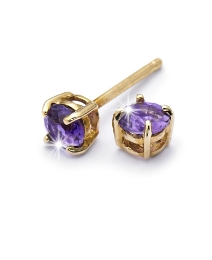 9 Carat Gold Gemstone Stud Earrings