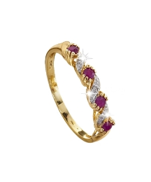 9 Carat Gold Ruby Eternity Ring