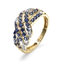 9 Carat Gold Pave Set Ring